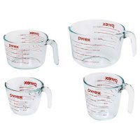 Pyrex 4-Piece Glass Measuring Cup Set