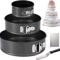 3 Piece Spring Form Pan Set - 4-inch, 7-inch, & 9-inch
