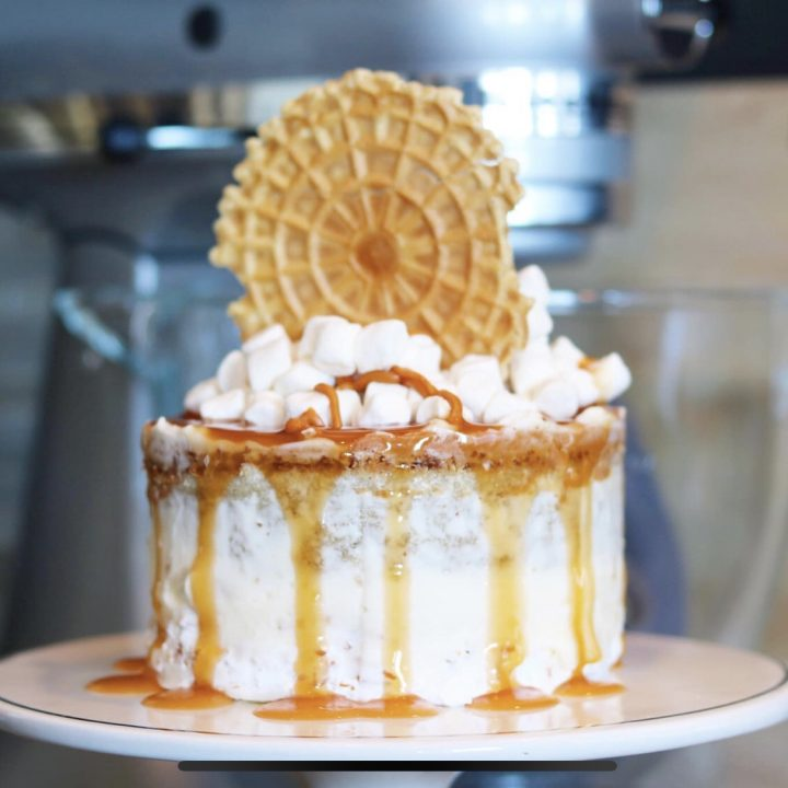 Butterscotch and Marshmallow Snickerdoodle Cake