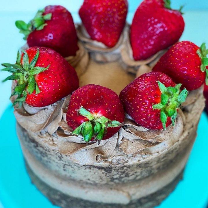 Strawberries & Chocolate Cream Cake